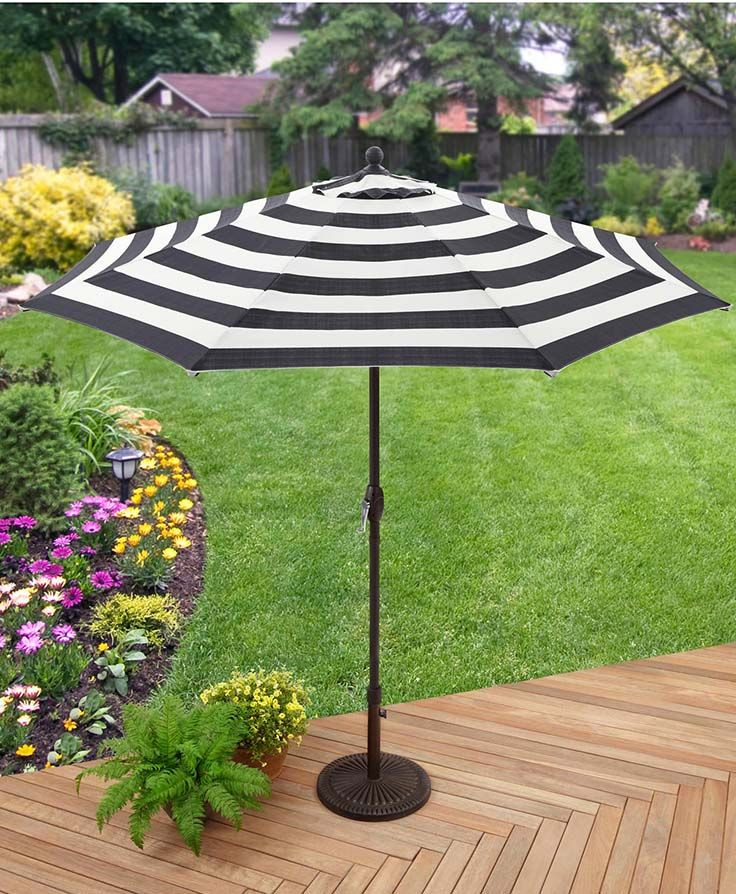 Better Homes Gardens 9 Market Umbrella Cabana Stripe