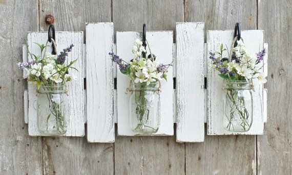 NEW...Rustic Farmhouse...Reclaimed Wood Wall by cottagehomedecor