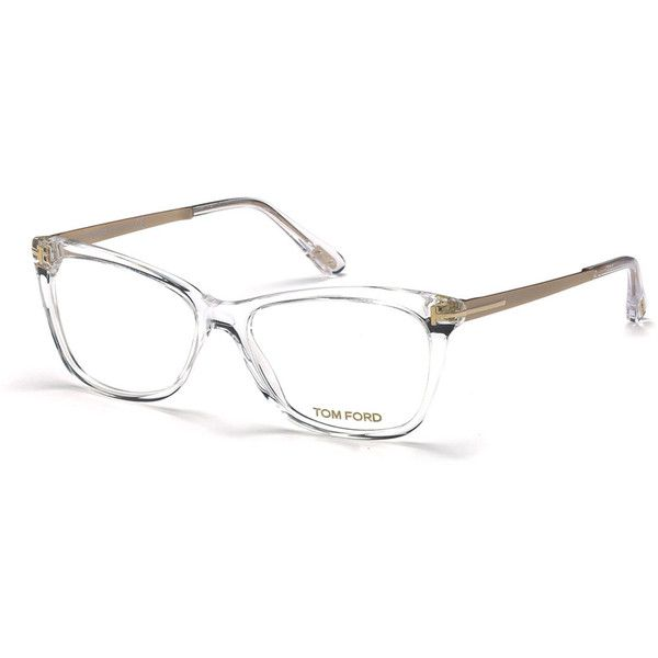 TOM FORD.  Slight Cat-Eye Fashion Glasses.  Tom Ford colorblock plastic slight cat-eye optical frames.  Clear, non-optical demo lenses (replacement recommended…