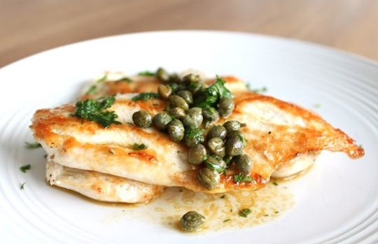 Delicious chicken in a buttery caper sauce. Quick healthy eats for ...