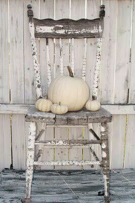 Would love to do this with one of my grandmother's old kitchen chairs in the fall...