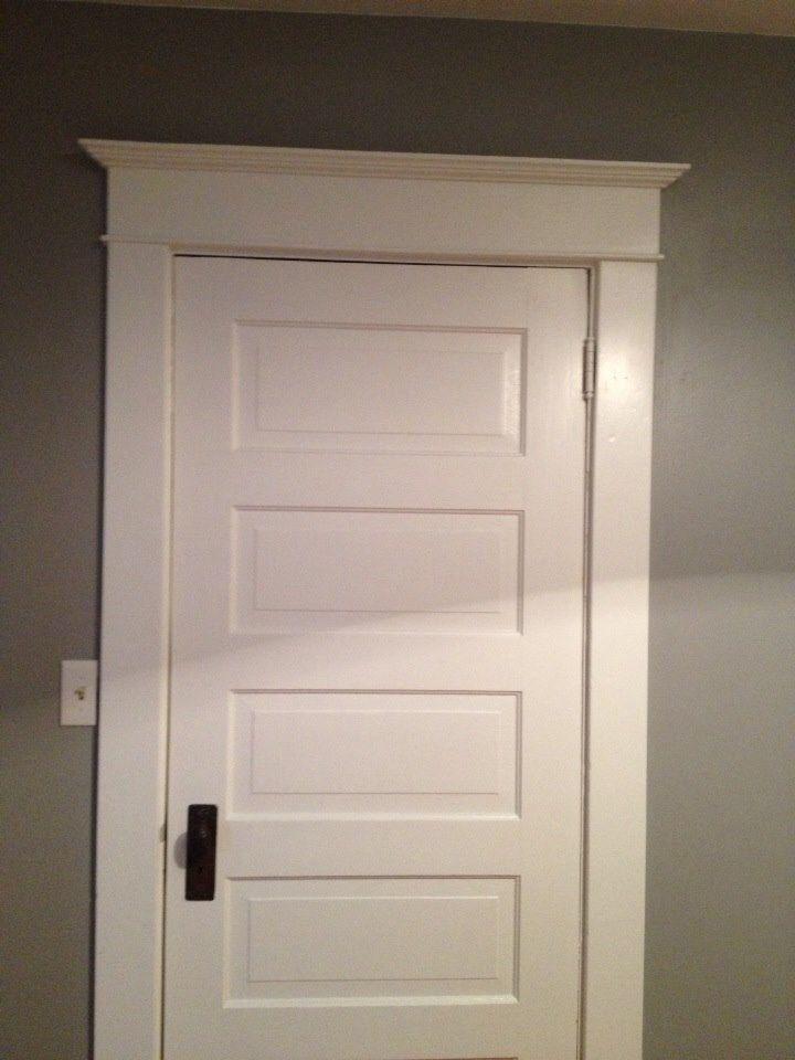 Image result for trim around five panel doors barn doors for Craftsman french doors