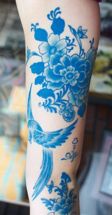 Blue tattoo by artist Sir Lexi Rex #tattoo #ink
