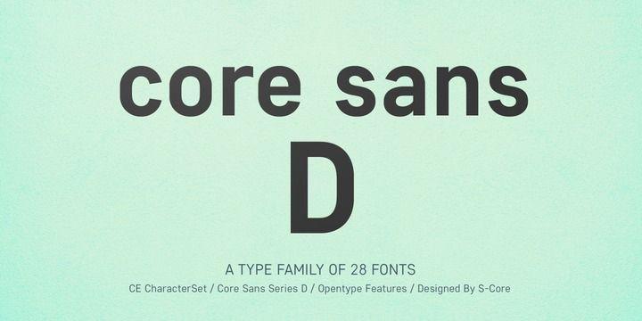 Core Sans D