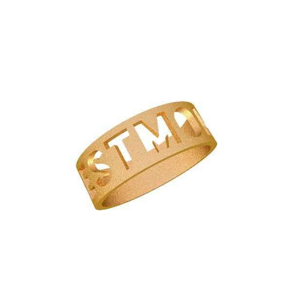 Zazzy Best Mom steel plated gold ring