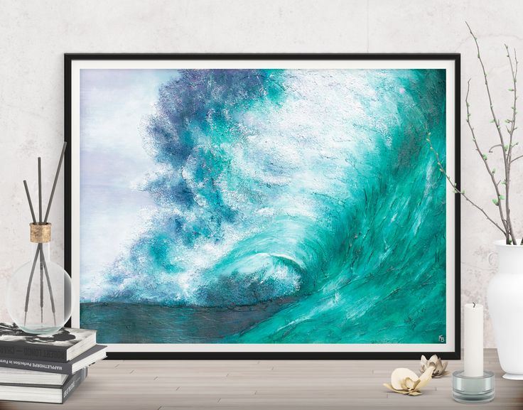Invite fresh and powerful emotions to your apartment! Beach art painting - Printables by FraBor Art.
