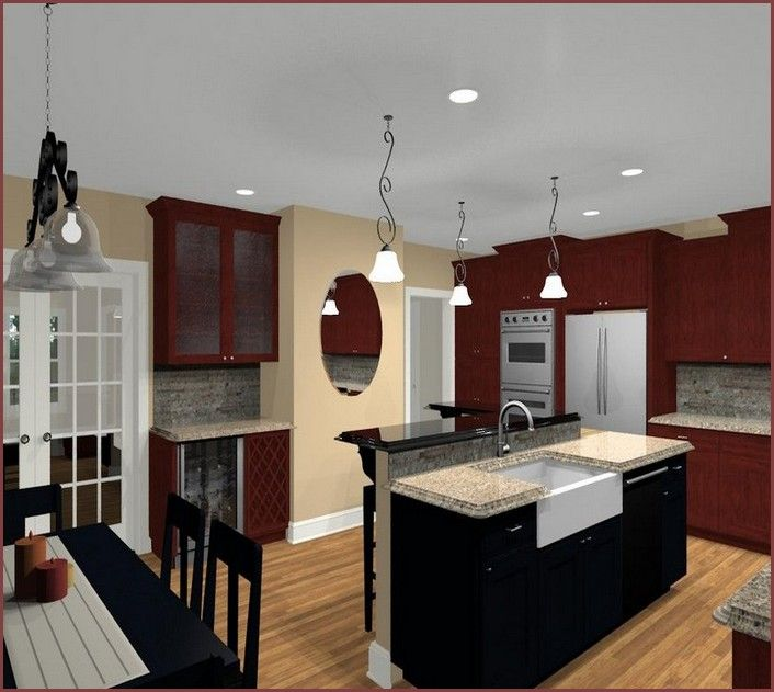 L Shaped Kitchen Island Designs With Seating Home Design: U Shaped Kitchen Designs With Island