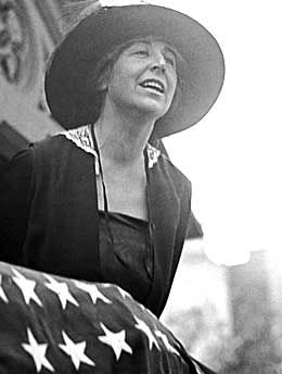 Jeannette Rankin, the first woman elected to Congress.  (R-Wisconsin) in 1916.  Wisconsin women could vote although most women in the country could not.