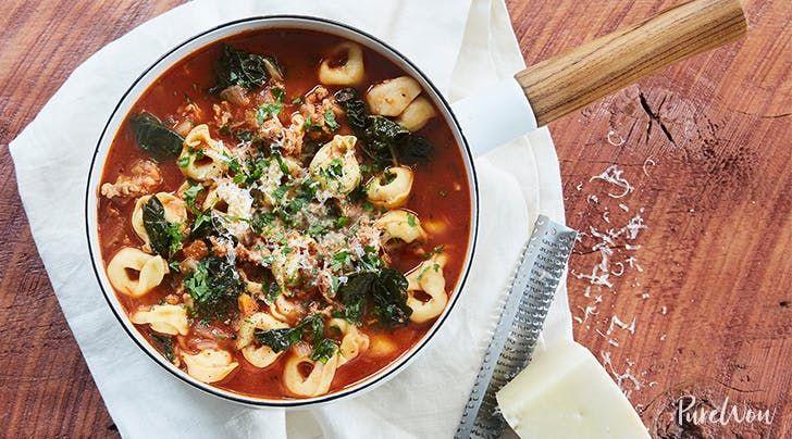 Tortellini Soup with Italian Sausage