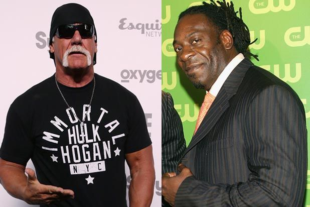 """Hulk Hogan's fellow WWE Hall of Famer Booker T is """"shocked"""" by N-word comments that have cost Hogan his wrestling contract. """"It's 2015 and the N-word should be eradicated from the English language in my opinion,"""" Booker T, real nameBooker Tio Huffman Jr., wrote on Twitter Friday. """"I am shocked by the statements made by Hulk Hogan."""