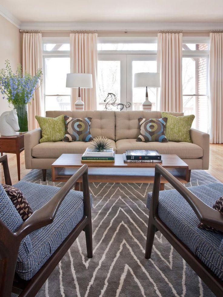 Modern Living Room Decorating Ideas: Best 25+ Midcentury Window Treatments Ideas On Pinterest