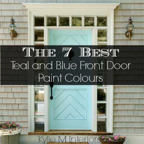 7 Best Teal And Blue Front Door Colours : Behr, Benjamin