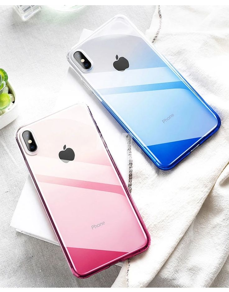 Gradient colored transparent case for iphone xr 7 8 6 s