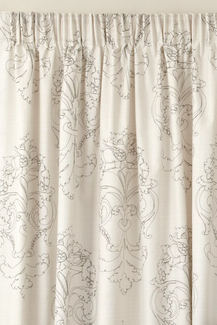 Damask Natural Pencil Pleat Curtains from the Next