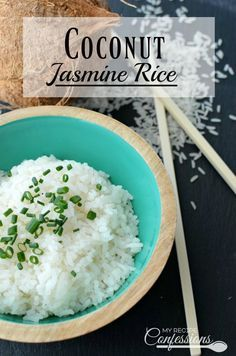 Coconut Jasmine Rice is an easy recipe that has a warm and comforting flavor. It is ready to eat in under 20 minutes and is the perfect side dish for any meat!