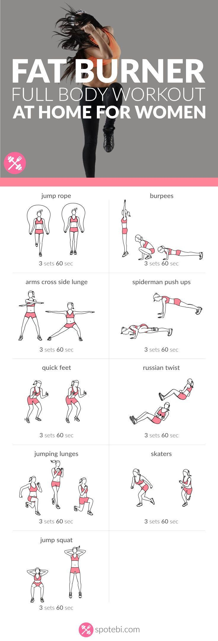 Increase your stamina and endurance with this bodyweight fat burner routine for women. A 30 minute full body workout to tone, tighten and sculpt your body. #cardiomenfullbody