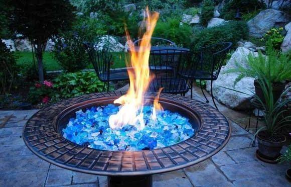 Medium Fireglass River Mix Gas Fire Pits Fire Glass Gas Fireplace