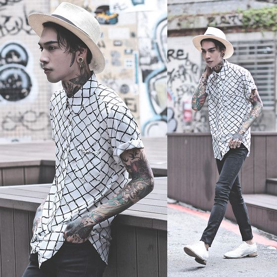 Get this look: http://lb.nu/look/7634752  More looks by IVAN Chang: http://lb.nu/ivan  Items in this look:  Tastemaker 達新美 Shirt, Tastemaker 達新美 Hat   #artistic #street #vintage