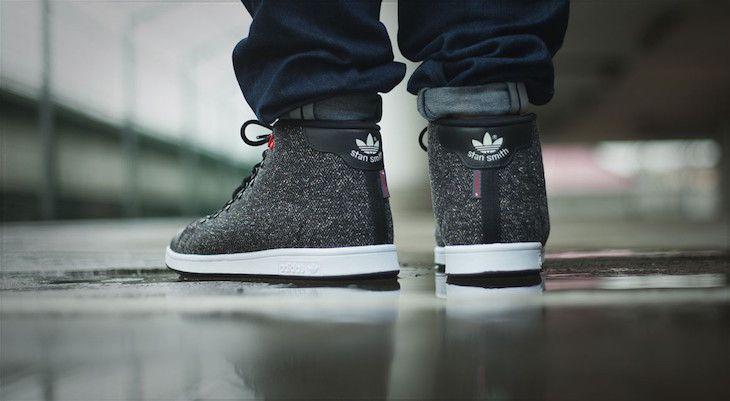 La Stan Smith d'adidas se fait montante pour l'hiver - http://www.leshommesmodernes.com/adidas-stan-smith-winter-mid-core-black/