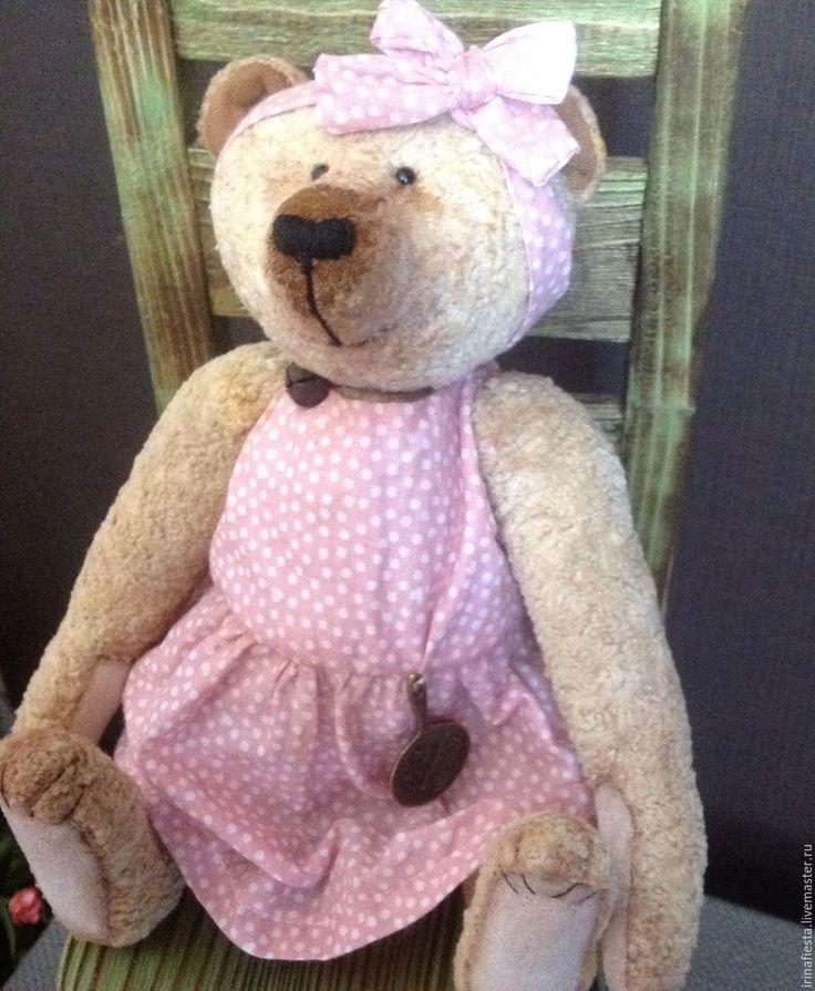 Купить Клавдия повариха - бежевый, мишка тедди, мишка плюшевый, куклы и игрушки, антикварная кукла