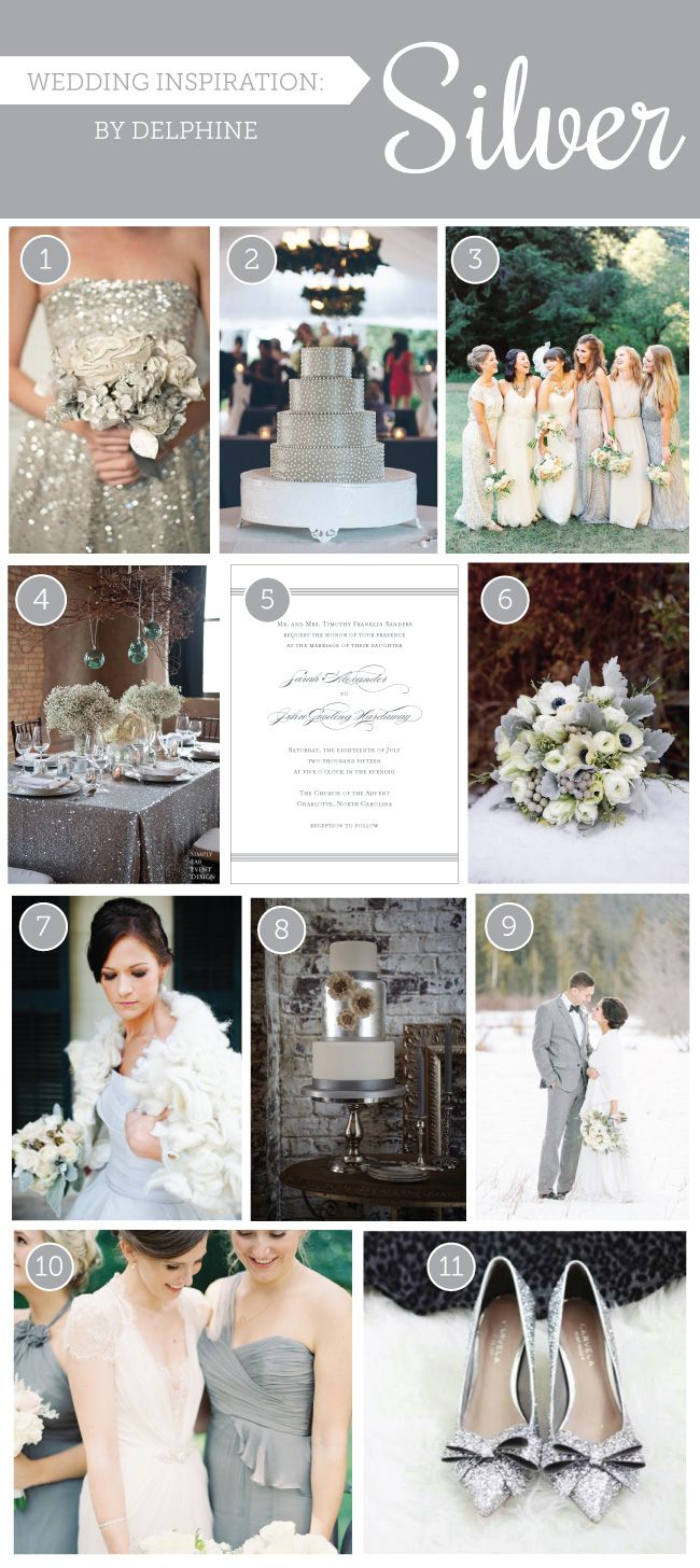 63 best SILVER Wedding Style images on Pinterest | Silver weddings ...