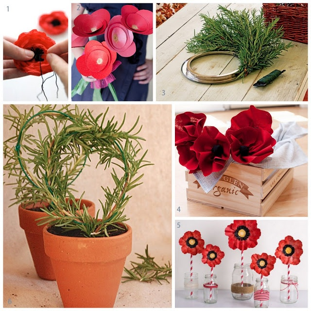 ANZAC Day DIY. Whether you prefer the internationally symbolic poppy or the locally favoured rosemary for remembrance, here are some great ideas for DIY crafts of remembrance.