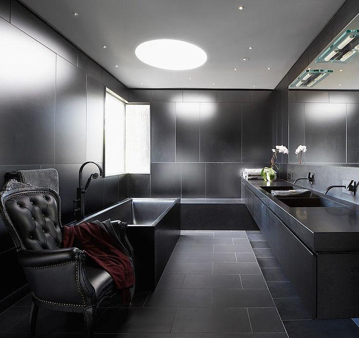 17 best ideas about badezimmer schwarz on pinterest   spüle, Wohnideen design