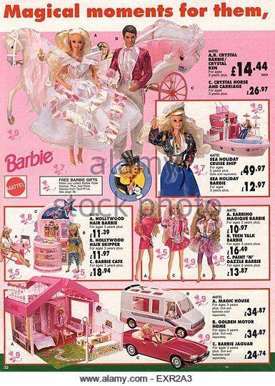 2000s UK Mattel Barbie Doll Catalogue/ Brochure Plate - Stock Image