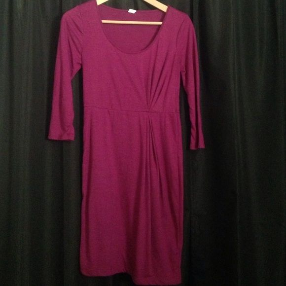 Old Navy Dress This is a magenta/purple old navy dress maybe worn 2x fits really cute but the style wasn't for me. It's a petite xs Old Navy Dresses