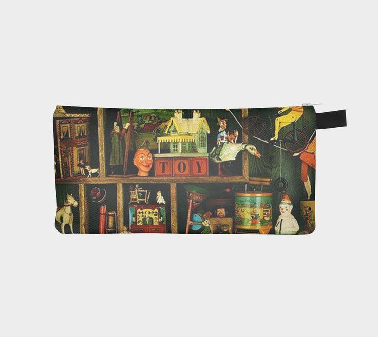 Vintage toy pencil case/make up bag/travel pouch
