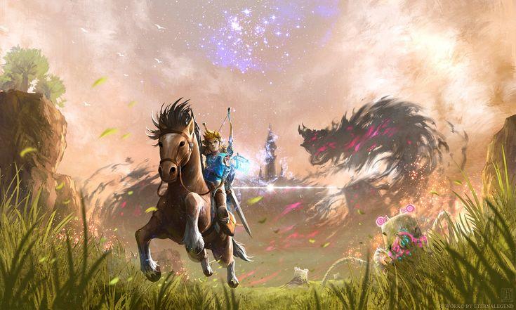 Computerspiele The Legend of Zelda: Breath of the Wild  Link Zelda Wallpaper – Kira Sayuri