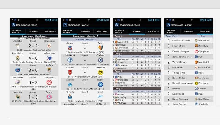 Champions League Android Apps