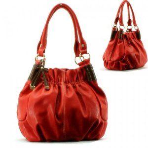 Ribbon Golden Hardware Purse and Bag / Handbag/ Orange Red/ Rcha32451pnk,$39.99