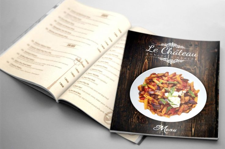 Graphics Designs:  Le Chateau Menu Card