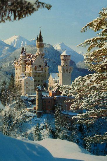 Neuschwanstein Castle, Bavaria, Germany. It's touristy for a reason...it's beautiful