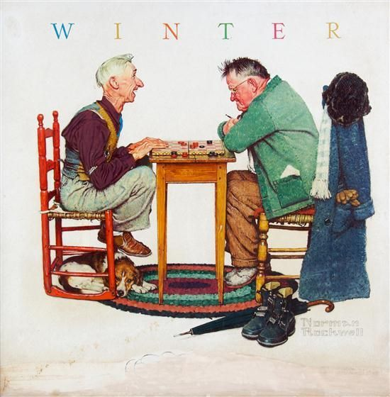 One of my favorite Norman Rockwell paintings... this reminds me of my grandfather