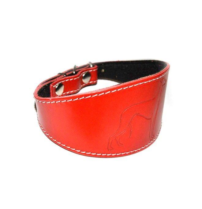 Collar para Whippet pequeño rojo