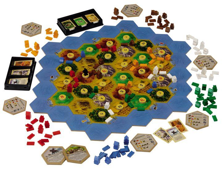 settlers board game | Settlers Of Catan Board Game 15th Anniversary Limited Wooden Edition