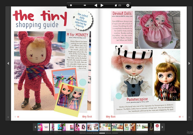 "Tiny Feet Magazine ""The Circus Parade"" Inside pages"