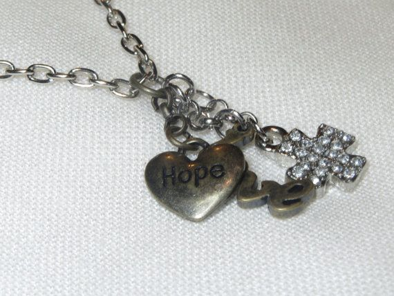 Religious Jewelry Cross Necklace Heart Necklace Love by Thielen