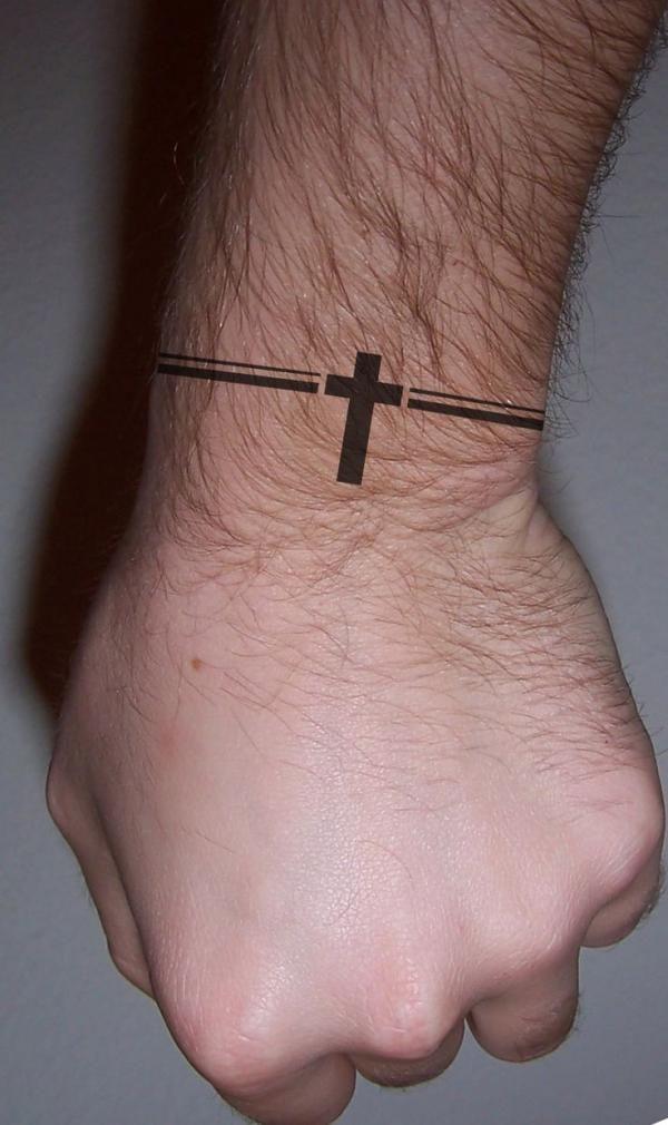 small cross, tattoo designs for men, ideas