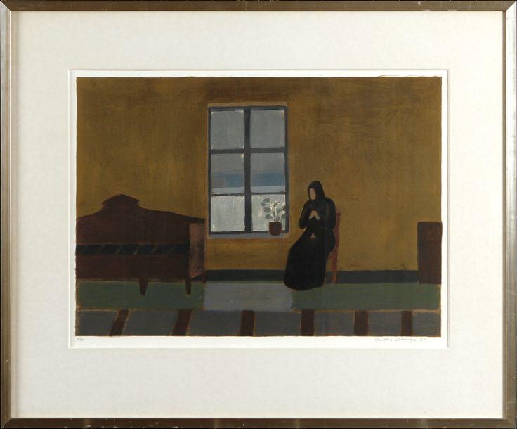 Veikko Vionoja, 1981, litografia, 38x54 cm, eddition 5/90 - Hagelstam A123
