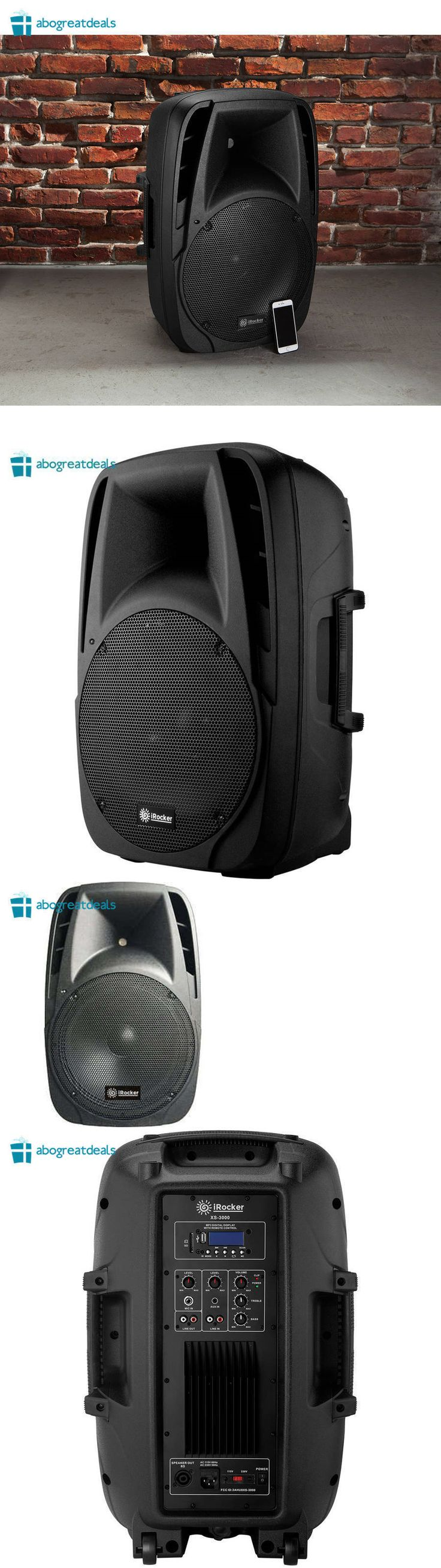 Portable Stereos Boomboxes: Irocker Portable Party Loud Speaker System On Wheels 1500W Bluetooth Usb Rca Fm -> BUY IT NOW ONLY: $104.23 on eBay!