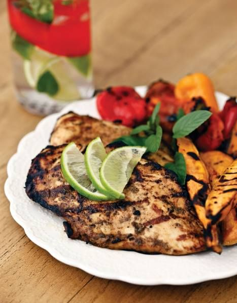 "CLICK PIC  2x for Recipe....  ...Grilled Mojito Chicken... ...Recipe by George Stella... ...For tons more Low Carb recipes visit us at ""Low Carbing Among Friends"" on Facebook"