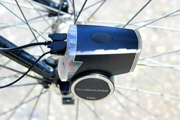 BikeCharge Dynamo lets you juice up your devices while you cycle.  #tech #gadget