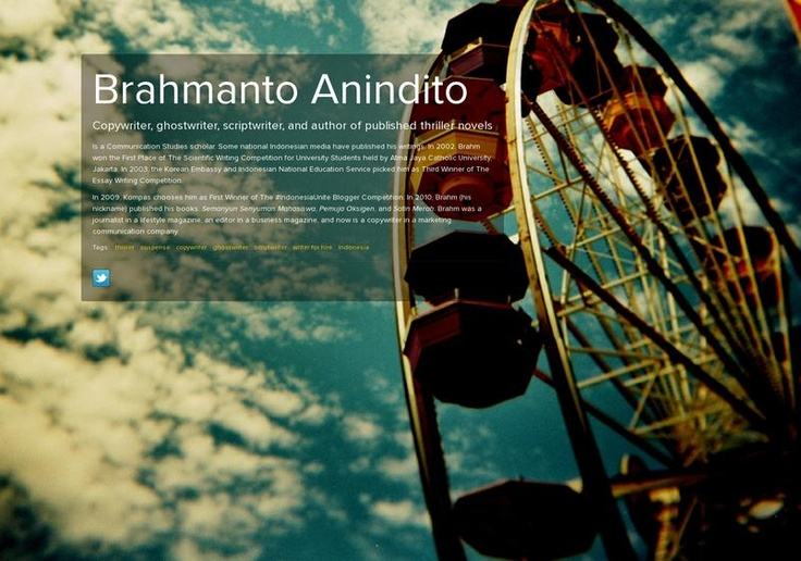 Made a page on About.me just to reminds me on social medias I have :P Please visit http://about.me/brahmanto
