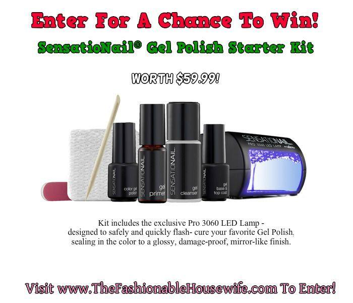 Enter for  a chance to win a SensatioNail Gel Polish Starter Kit.