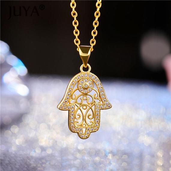 Inspirational Necklace,Hamsa Pendant Yoga Jewelry Hamsa Pendant Necklace Gold filled Hamsa Necklace Hamsa charm Gift for Her