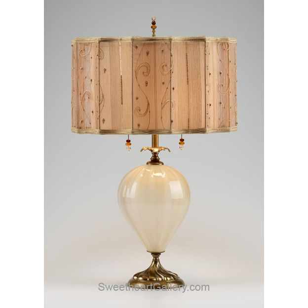 sophie table lamp 94ae74 by kinzig design colors cream gold blown glass artisan blown glass lamps