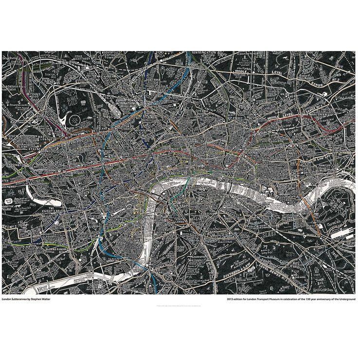 Stephen Walters London Subterranea Print from